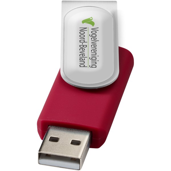 Rotate-doming 2GB USB flash drive - Red / Silver