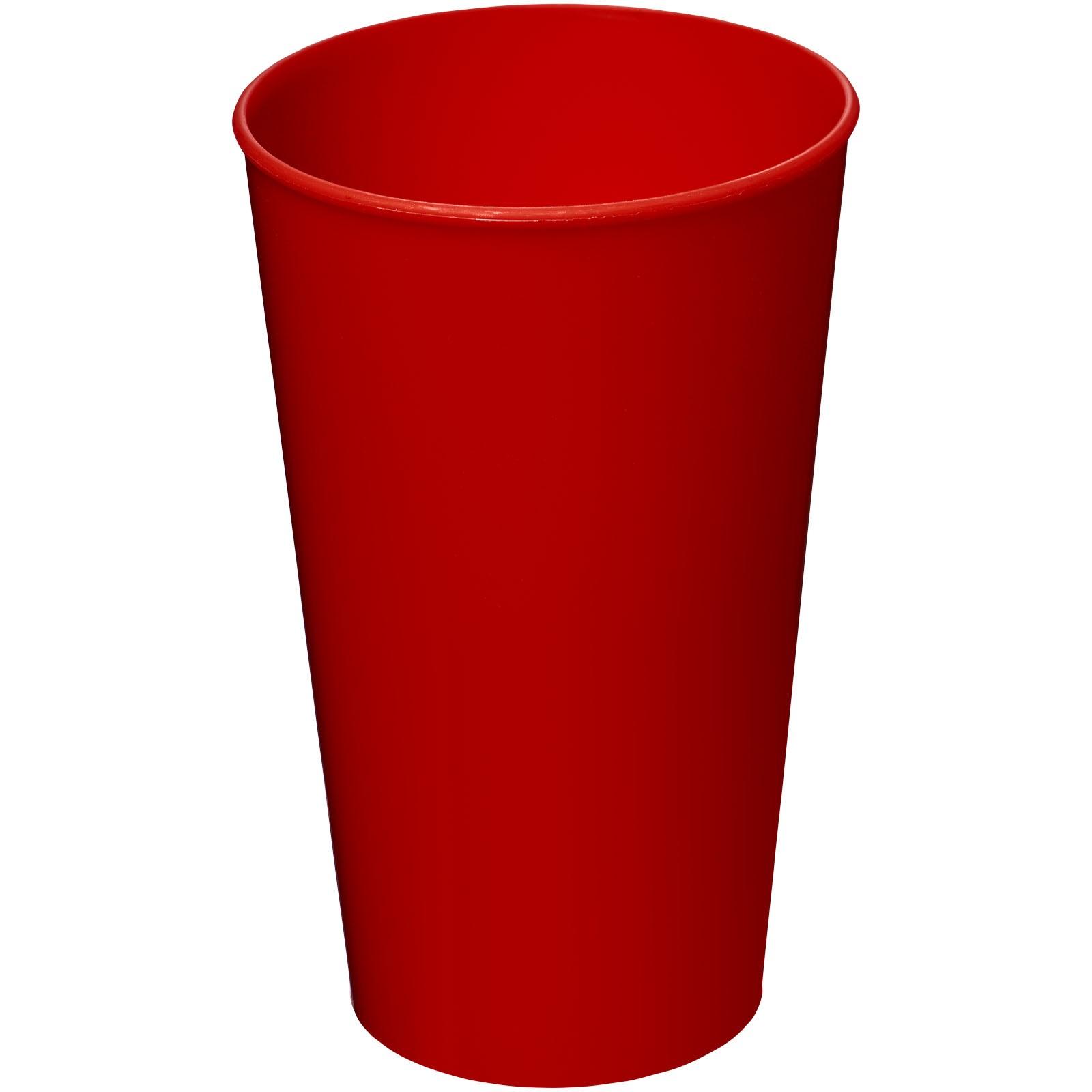 Plastový kelímek Arena 375 ml - Červená s efektem námrazy