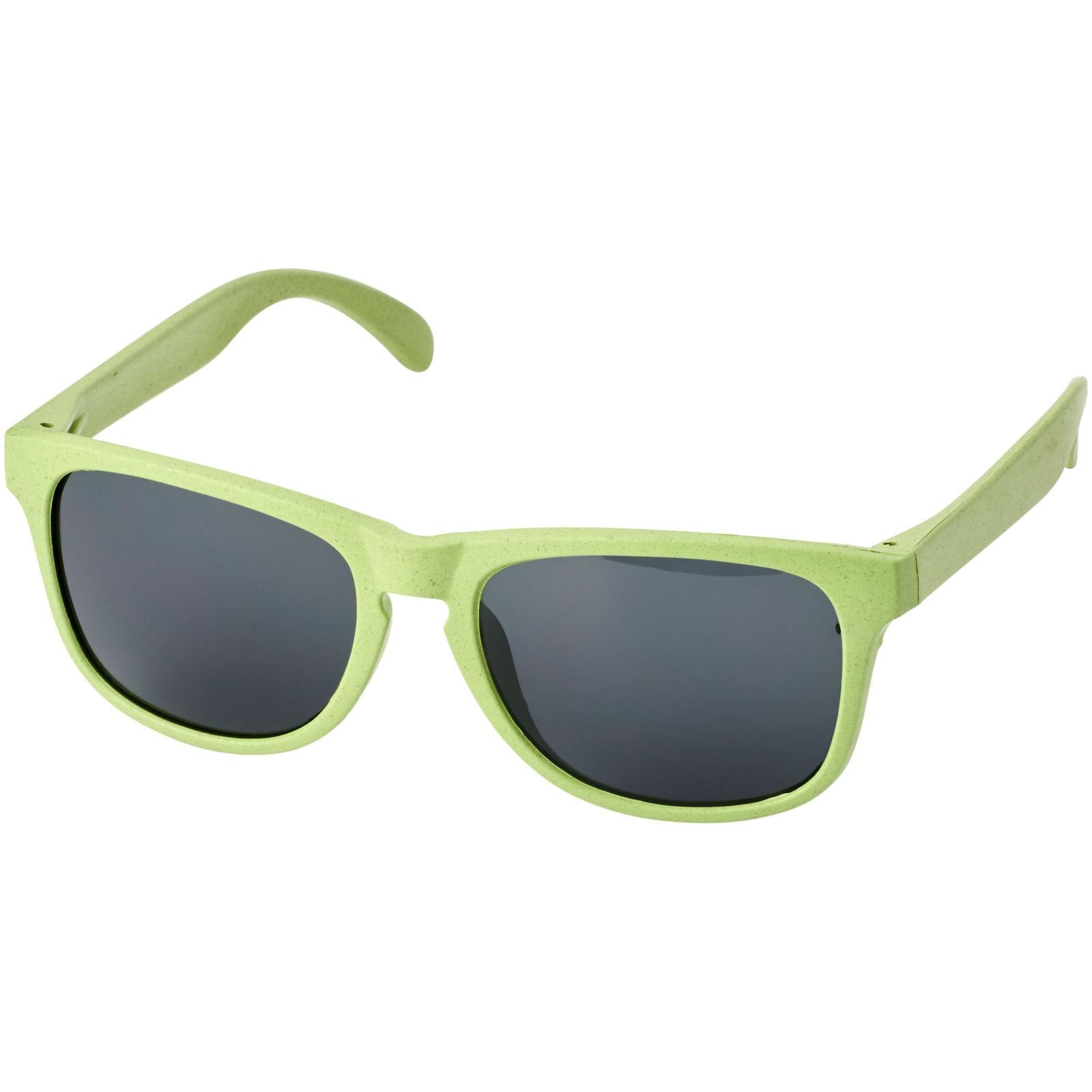 Rongo sluneční brýle z pšeničné slámy - Limetkově zelená