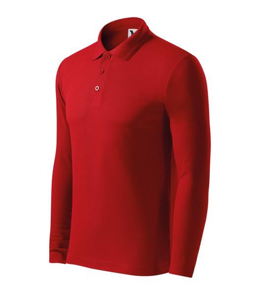 Polokošile pánská Malfini Pique Polo LS - Červená / S