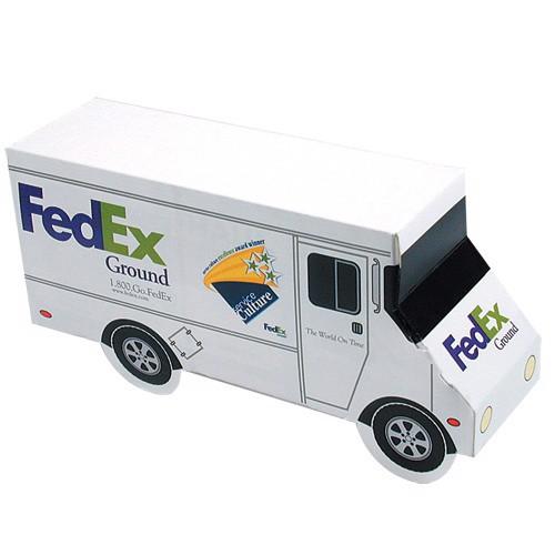 Reklamní papírové kapesníčky v krabičce (mini kamion) s vlastním potiskem 20x8x10 cm