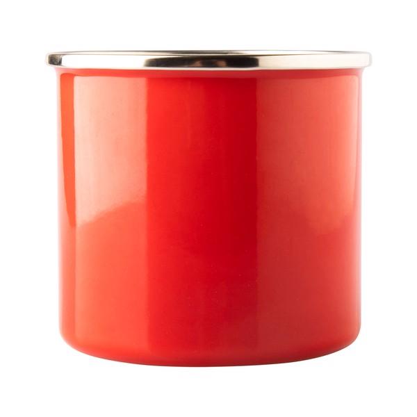 Kubek emaliowany Oldschool 500 ml - Czerwony