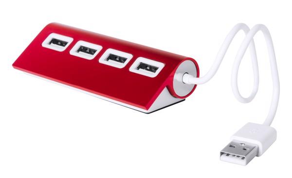 Usb Hub Weeper - Červená / Bílá