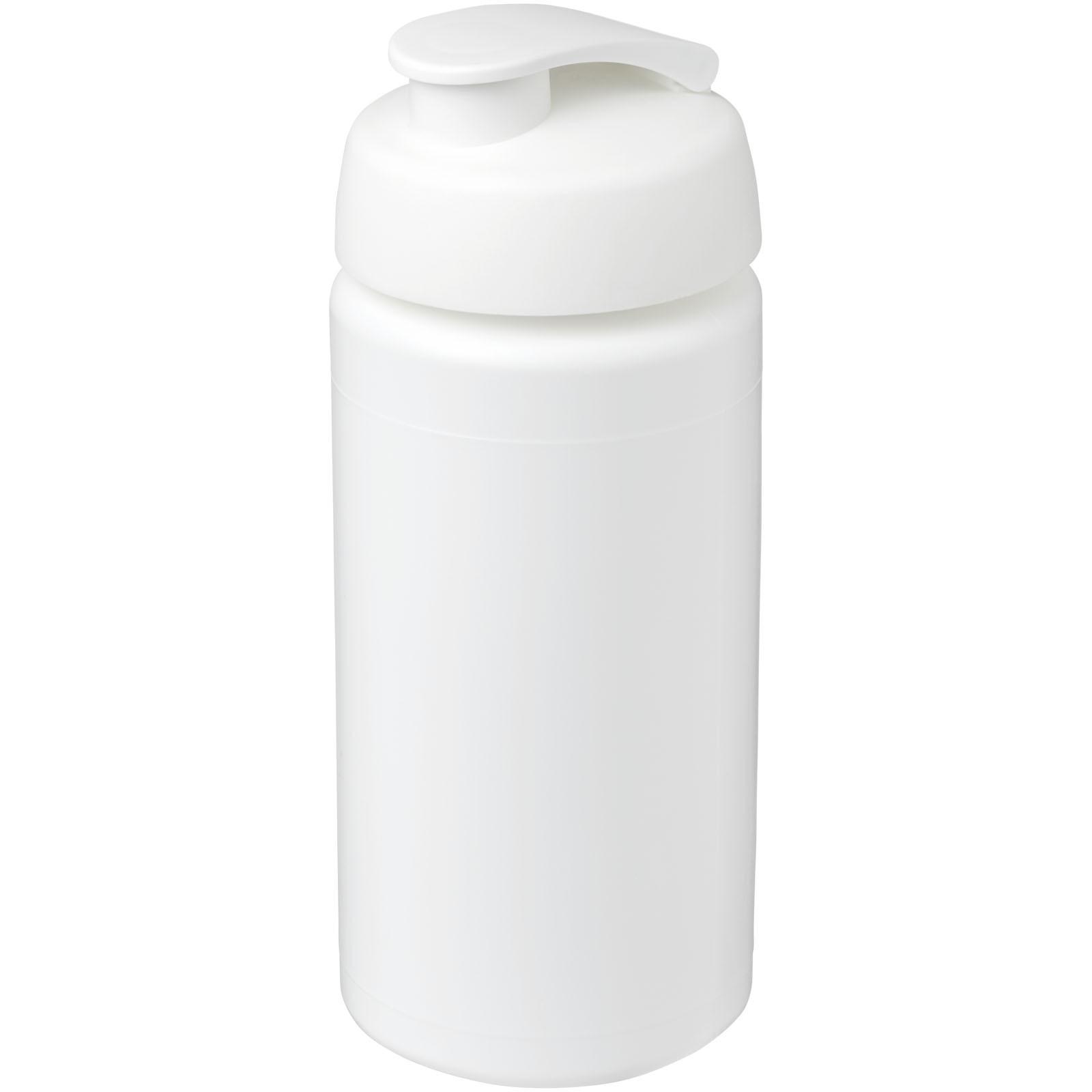 Sportovní láhev s vyklápěcím víčkem Baseline® Plus grip 500 ml - Bílá
