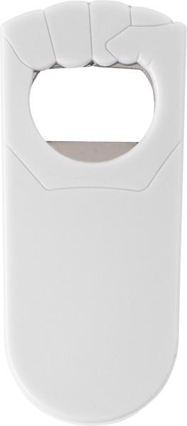 HIPS bottle opener - White