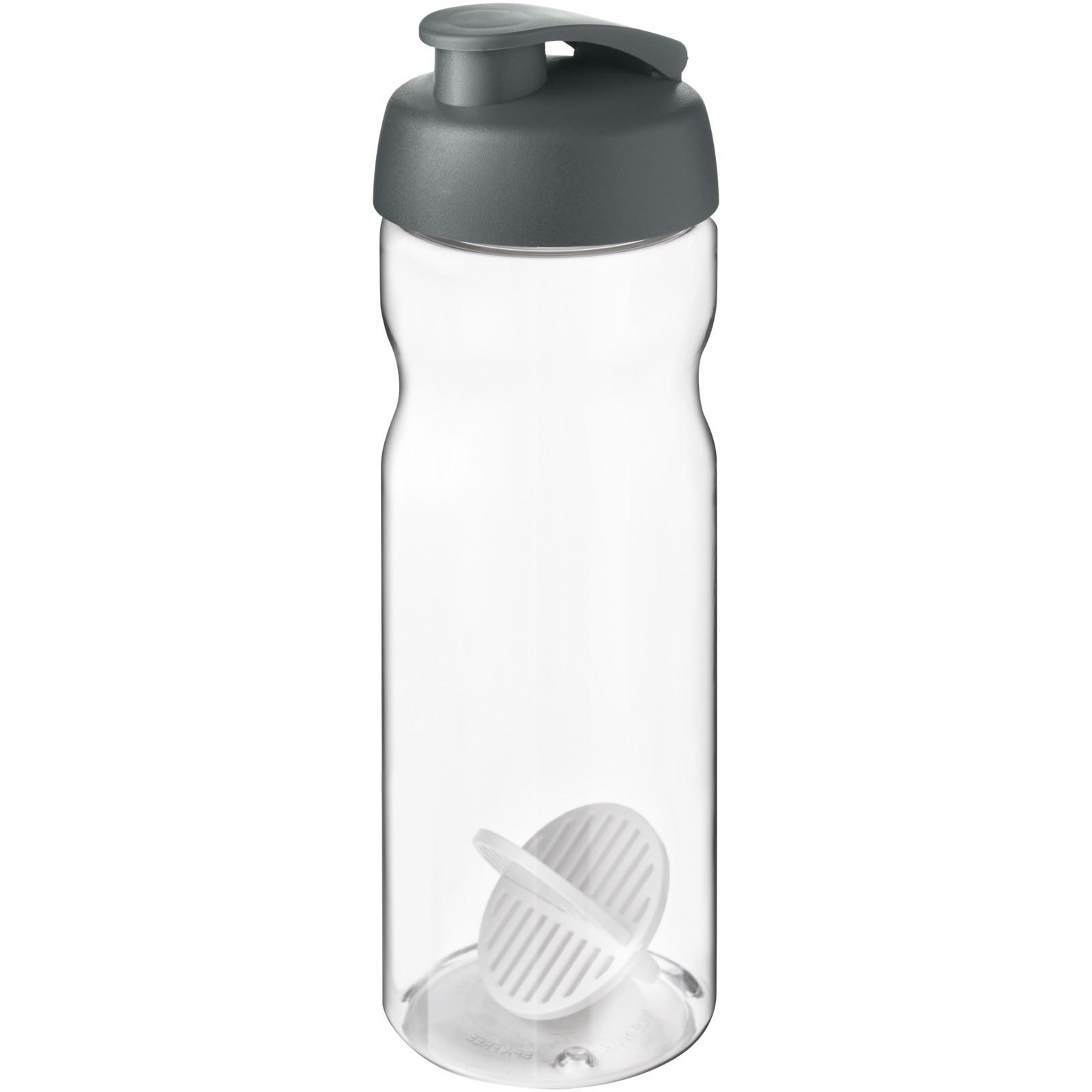 H2O Active Base 650 ml shaker bottle - Grey / Transparent