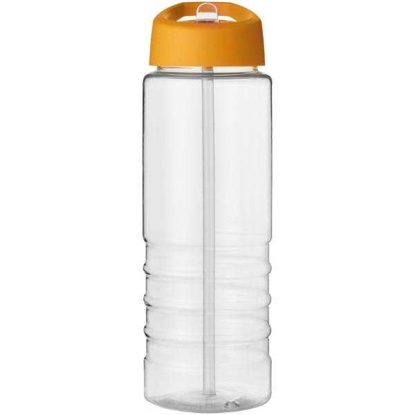 H2O Treble 750 ml sportovní lahev s víčkem s hubičkou - Průhledná / 0ranžová