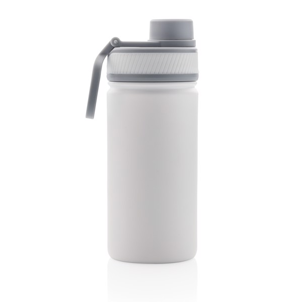 Vacuum stainless steel bottle with sports lid 550ml - White / Grey