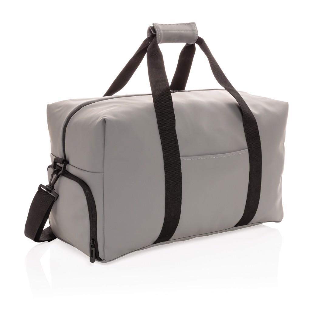 Víkendová taška z hladkého PU - Šedá