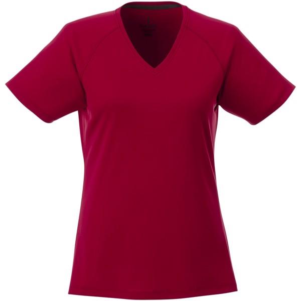 Amery dámské cool fit v-neck tričko s krátkým rukávem - Červená s efektem námrazy / XS