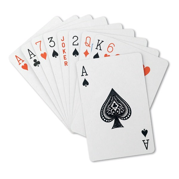 Playing cards in pp case Aruba - Red