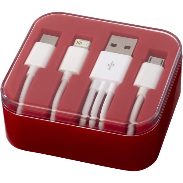 Napájecí kabel 3-in-1 Tril - Červená s efektem námrazy