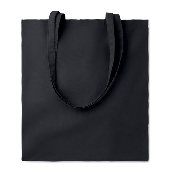 Cotton shopping bag 140 gr/m² Cottonel Colour + - Black