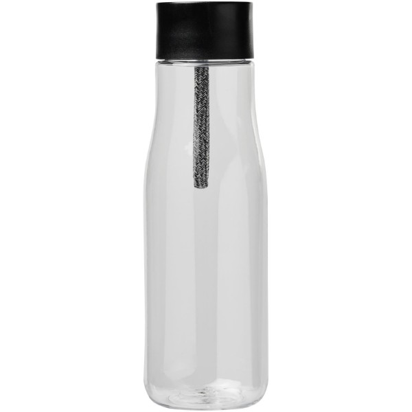 Ara 640 ml Tritan™ sport bottle with charging cable - Transparent clear