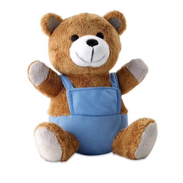 Plišasta igračka medvedek s hlačkami za potisk vaše blagovne znamke Nico