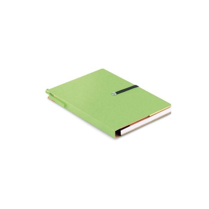Libreta de papel reciclado Reconote - verde