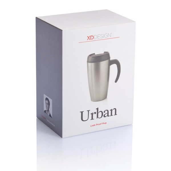 Urban bögre - Ezüst Színű / Fekete