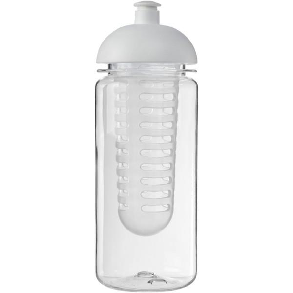 H2O Octave Tritan™ 600 ml dome lid bottle & infuser - Transparent / White