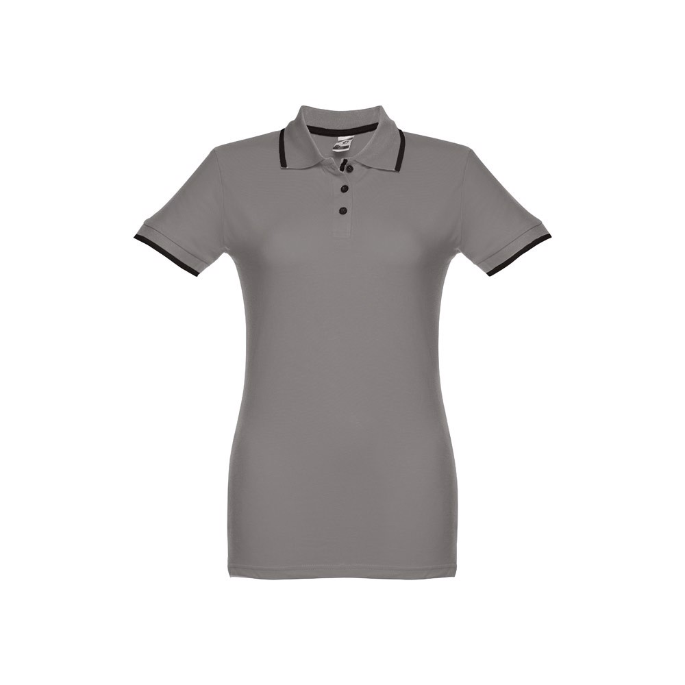 ROME WOMEN. Γυναικεία πόλο μπλούζα slimfit - Γκρί / XL