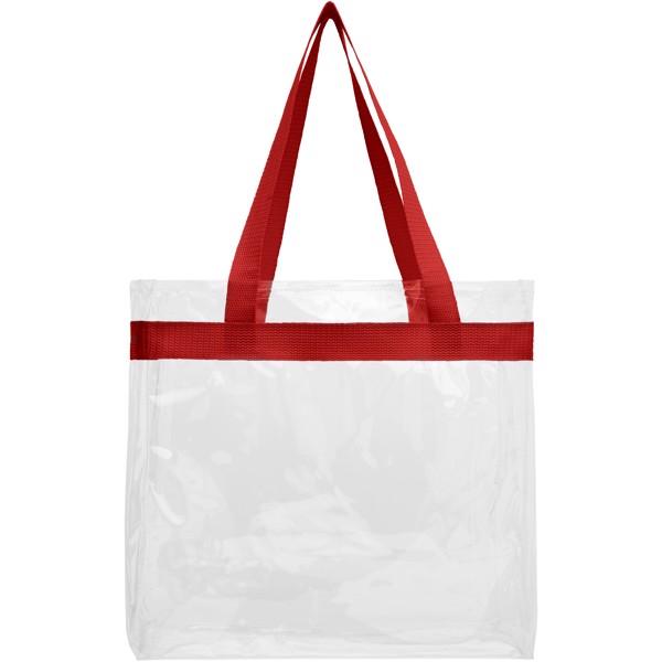 Hampton transparent tote bag - Red / Transparent clear