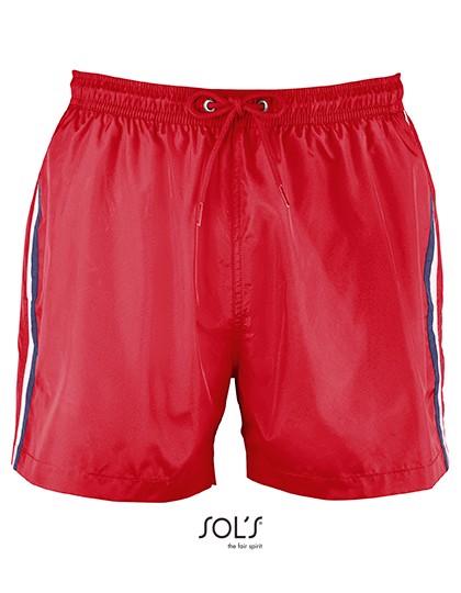 Men Sunrise Swimshorts - Red / XXL