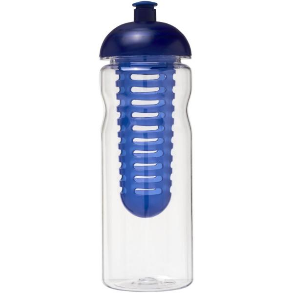 H2O Base Tritan™ 650 ml dome lid bottle & infuser - Transparent / Blue