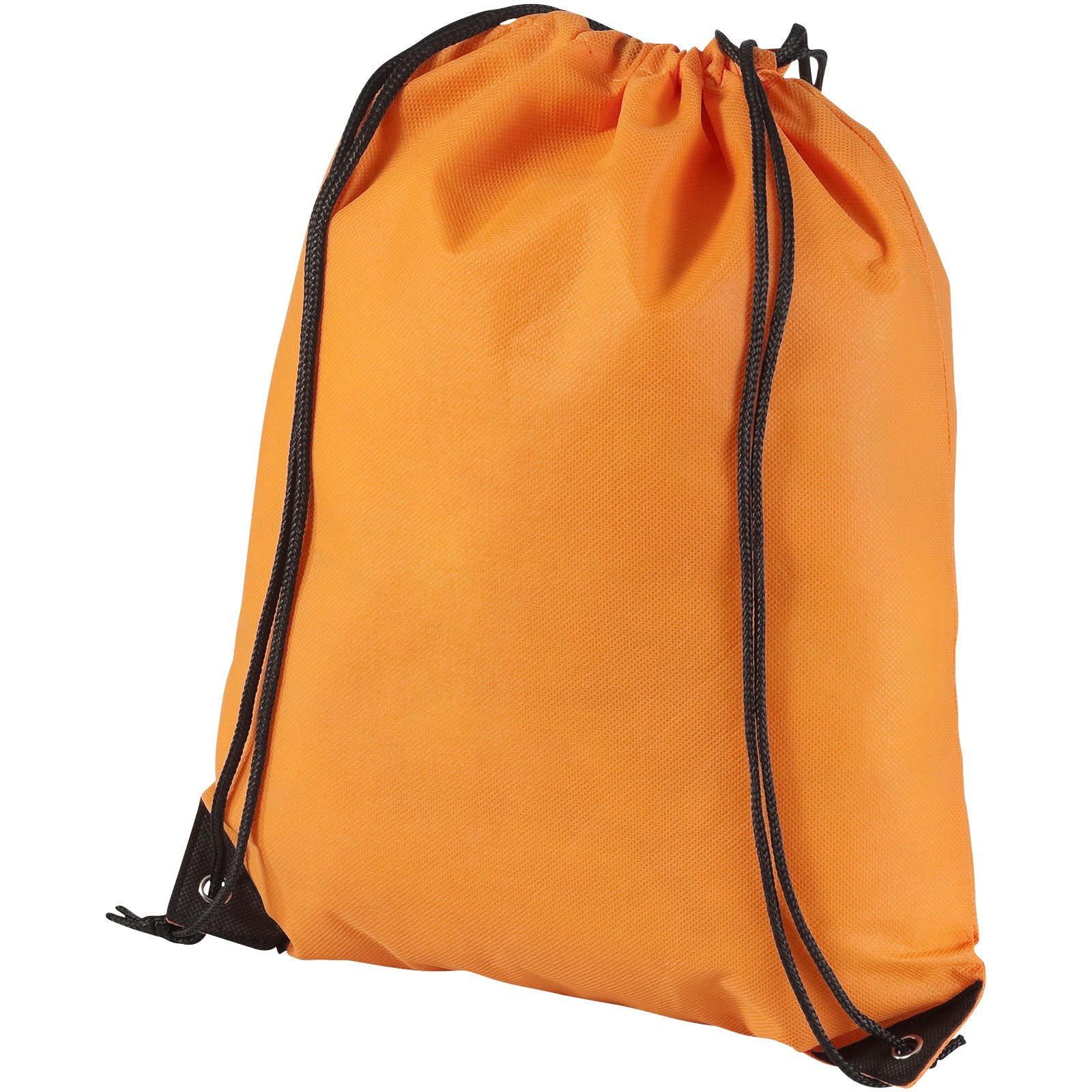 Evergreen non-woven drawstring backpack - Orange