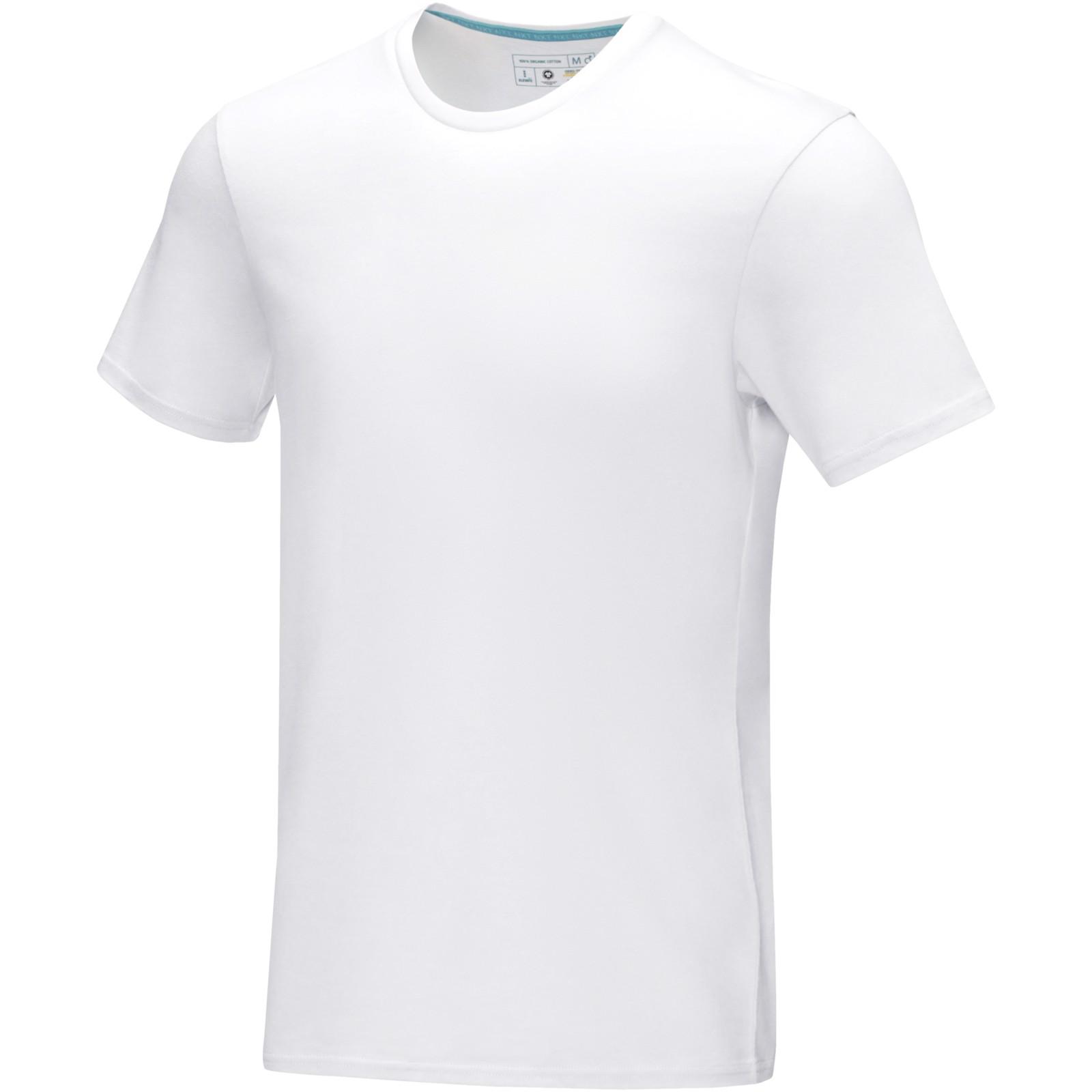 "Camiseta orgánica GOTS de manga corta para hombre ""Azurite"" - Blanco / XS"