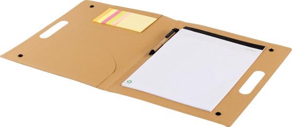 Carpeta de escritura, de cartón - Brown