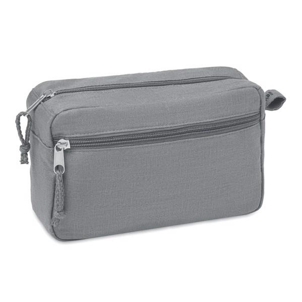 Hemp toilet bag hemp 200 gr/m² Naima Cosmetic - Grey