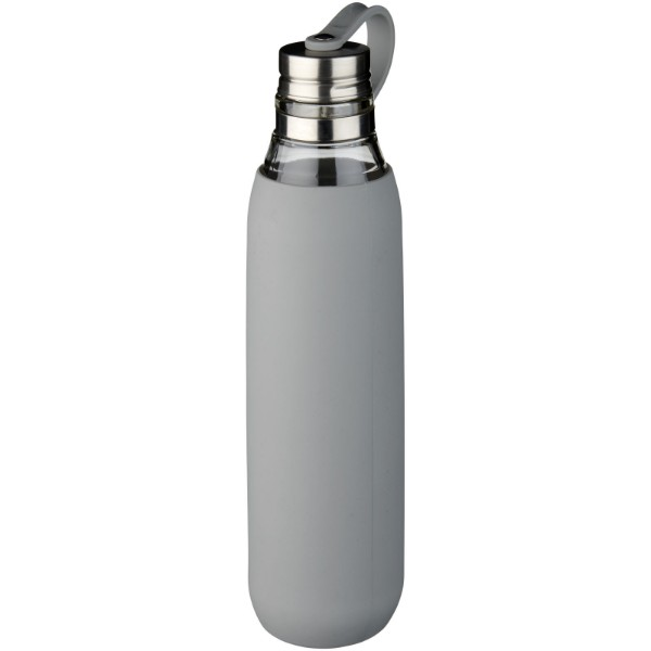 Oasis 650 ml glass sport bottle - Grey