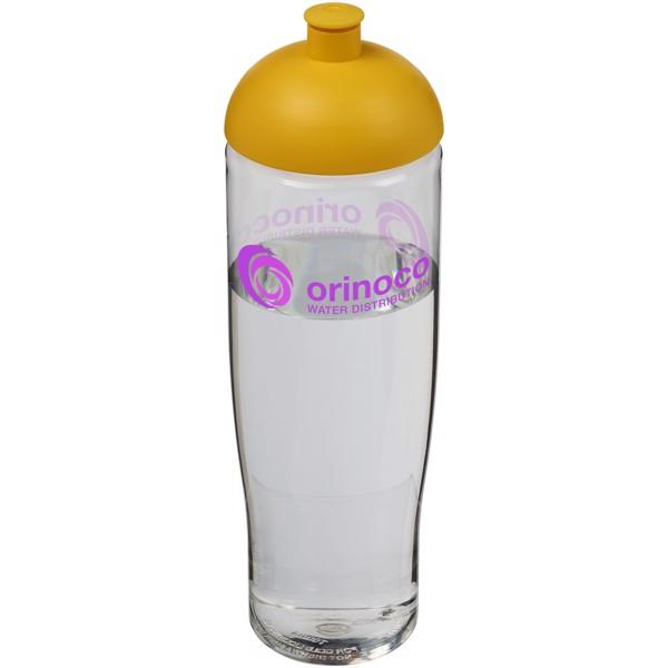 Sportovní láhev s kupolovitým víčkem H2O Tempo® 700 ml - Průhledná / Žlutá