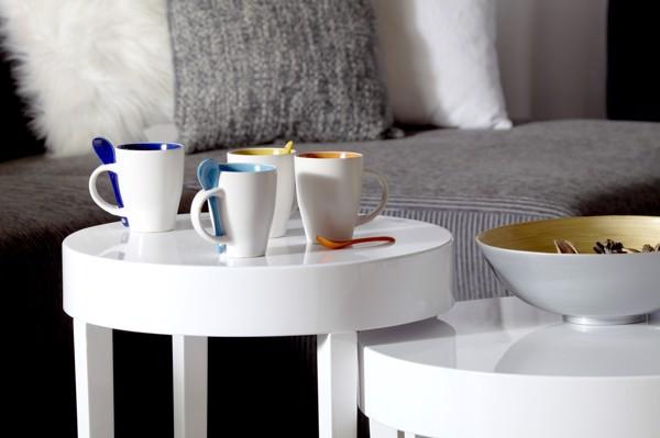 Ceramic mug with spoon - Lime