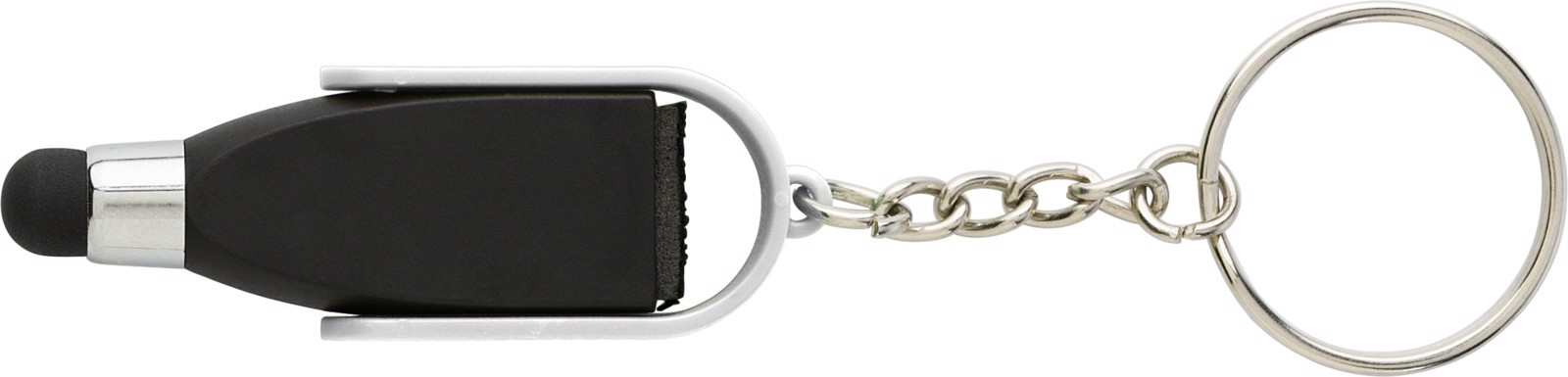 ABS key chain with tip for capacitive screens - White