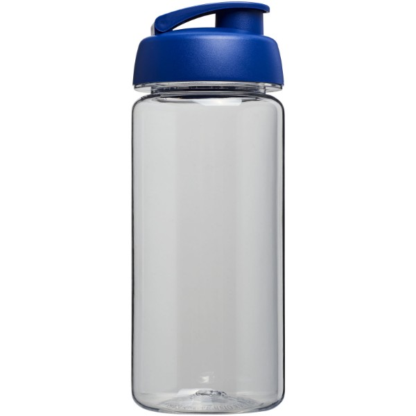 H2O Octave Tritan™ 600 ml flip lid sport bottle - Transparent / Blue