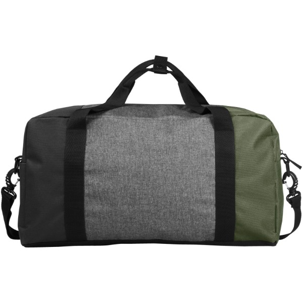 "Three-way colourblock 19"" duffel bag - Olive"