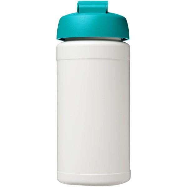 Baseline® Plus 500 ml flip lid sport bottle - White / Aqua