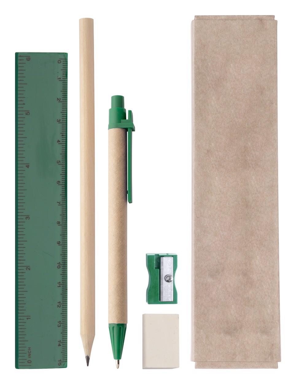 Školní Sada Gabon - Zelená / Přírodní