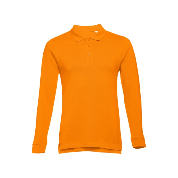 BERN. Ανδρική μακρυμάνικη πόλο - Πορτοκάλι / XL