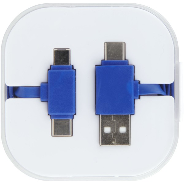 "Cable de carga con estuche ""Colour Pop"" - Azul Real"