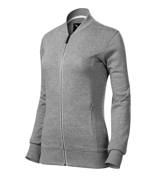 Sweatshirt Ladies Malfinipremium Bomber - Dark Gray Melange / 2XL