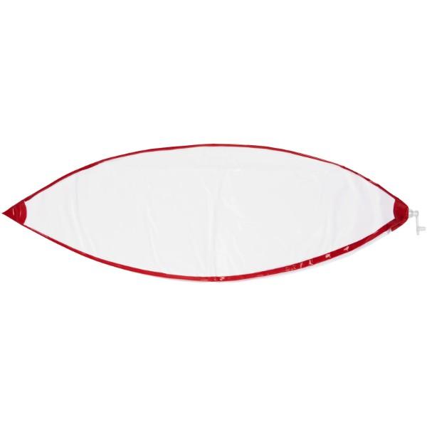 Bora neprůhledný plážový míč - Red / White Solid