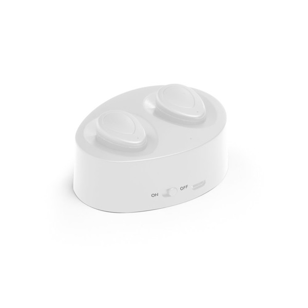 CHARGAFF. Wireless earphones - White