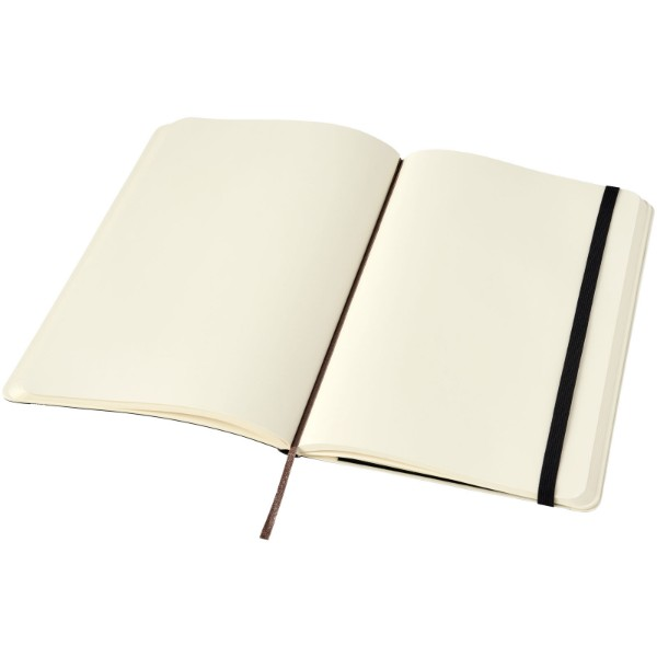 Classic L soft cover notebook - plain - Solid black