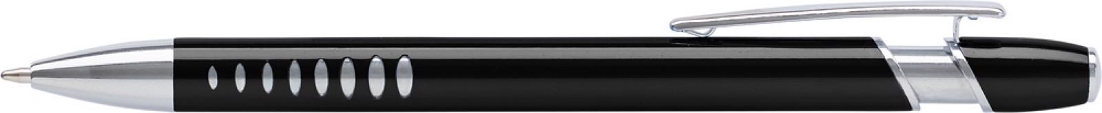 Aluminium ballpen with UV coating - Black