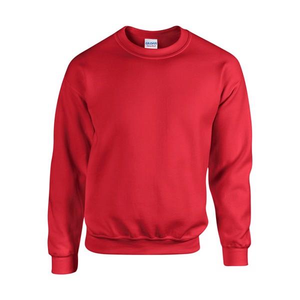 Unisex Bluza 255/270 g/m2 Heavy Blend Sweat 18000 - Czerwony / L