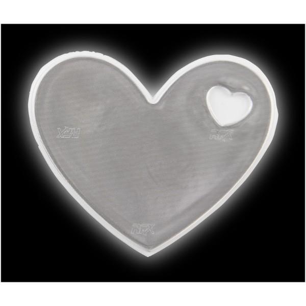 Reflective sticker heart - White