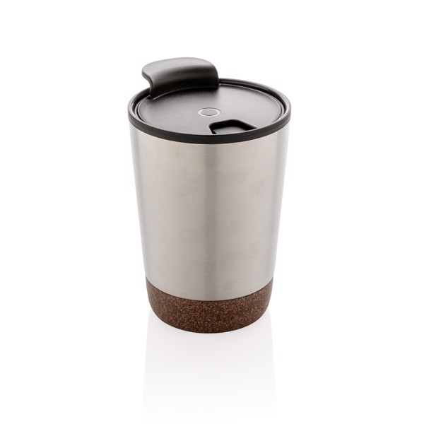 Korkový termohrnek - Stříbrná