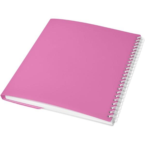 Poznámkový blok Curve A6 - Růžová / Bílá