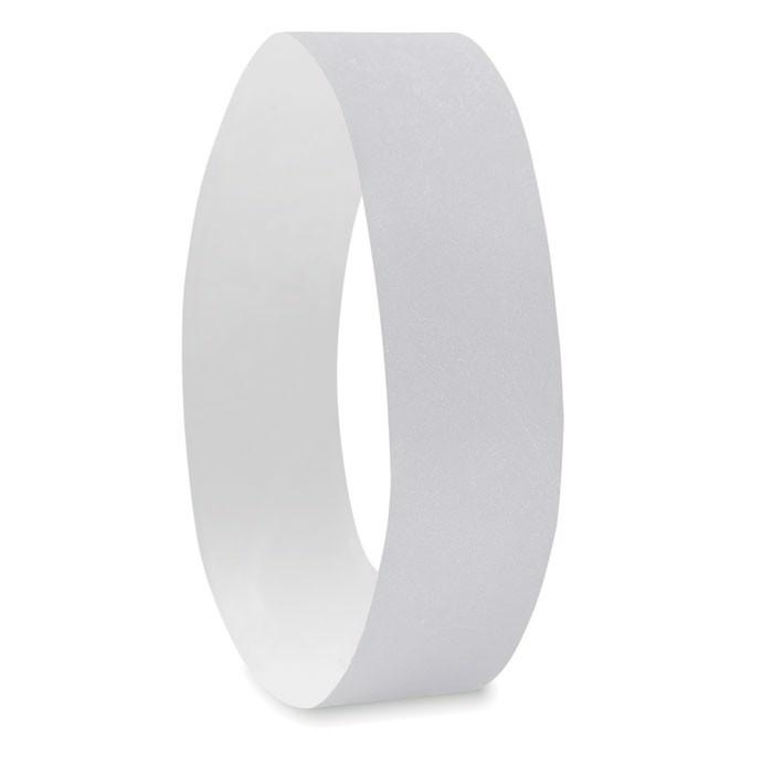 One sheet of 10 wristbands Tyvek - White